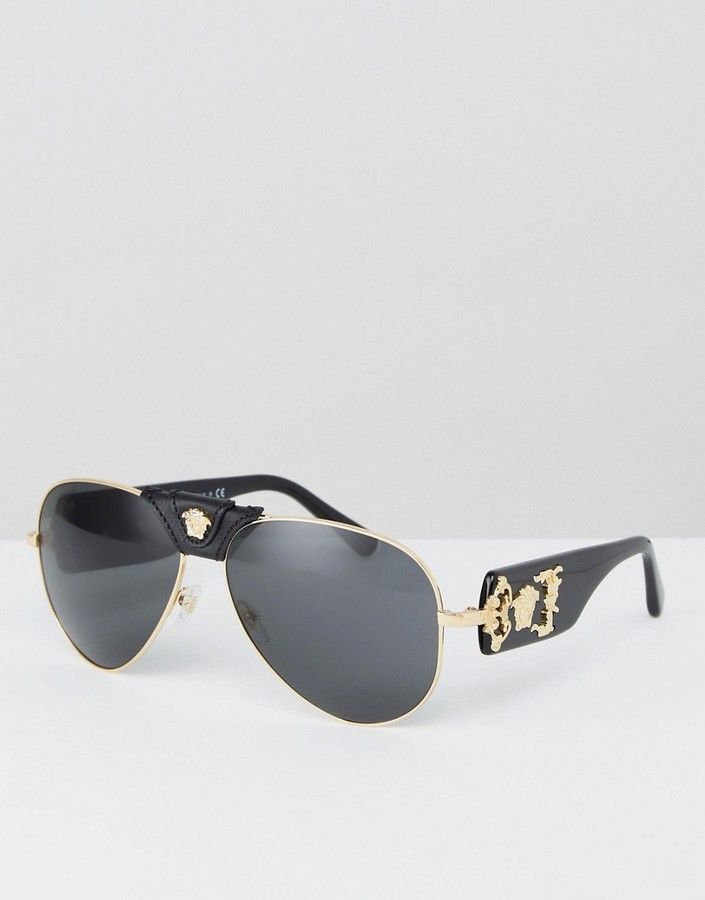 Versace Aviator Sunglasses with Side Medusa #men#fashion#male#style#menfashion#menwear#menstyle#clothes #man #ad -  Sale! Up to 75% OFF! Shot at Stylizio for women's and men's designer handbags, luxury sunglasses, watches, jewelry, purses, wallets, clothes, underwear & more!