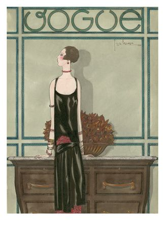 Vogue - February 1925 Regular Giclee Print af Georges Lepape på AllPosters.dk