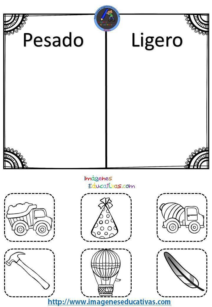 Resultado De Imagen Para Dibujos Para Imprimir De Pesado Y Liviano