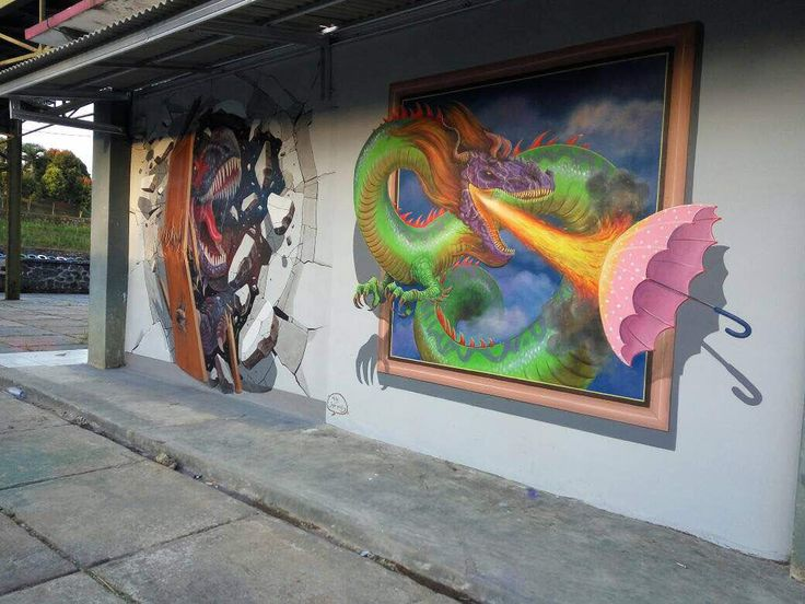 3D Mural at The Mountain Recreation Park Kuningan - Jogja Painting