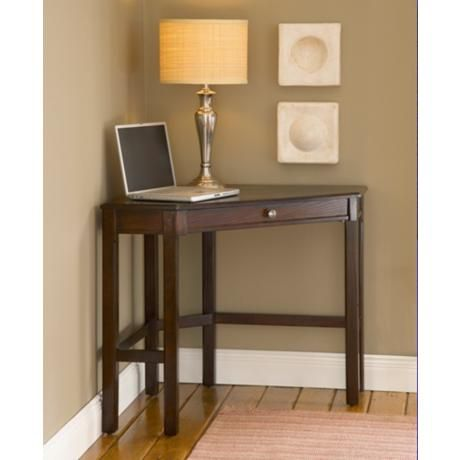 Its Small Size Makes This Dark Cherry Desk Perfect For The Living Room Kitchen Bedroom Or Den