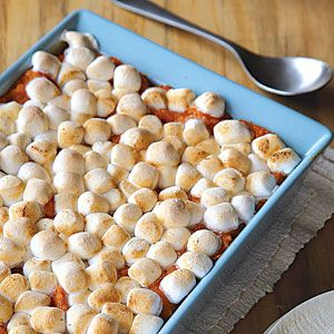 FIVE STAR Sweet Potato Casserole with Marshmallow Topping - A must have side dish for Thanksgiving!