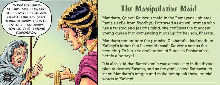 Powerful, sometimes-clever, always-fascinating villains of mythology! #VillainsofMythology #Manthara