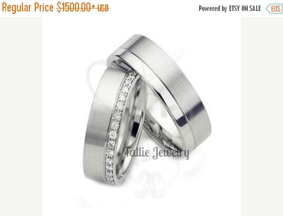 ON SALE His and Hers Wedding RingsMatching by TallieJewelry