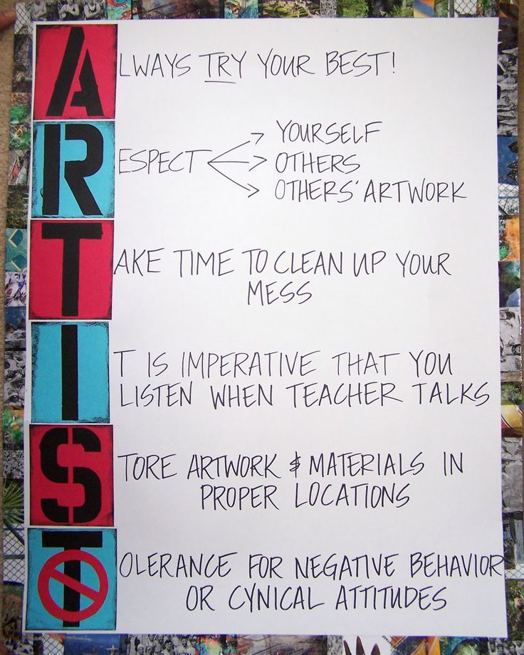 Abstract Element: Rules for the Classroom