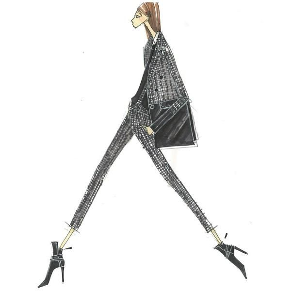 A sketch from my fall 2014 collection #livinginstyle