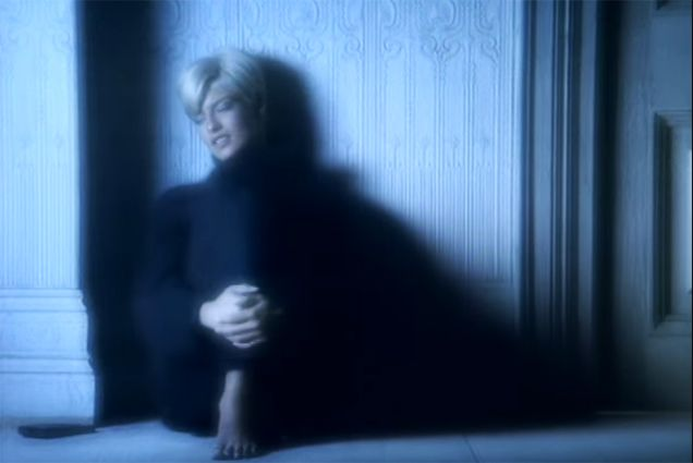 """George Michael's """"Freedom! '90"""" Video Facts: Linda Evangelista's platinum hair was a big surprise. She had dyed her hair platinum blonde the night before she showed up on the """"Freedom! '90"""" set"""