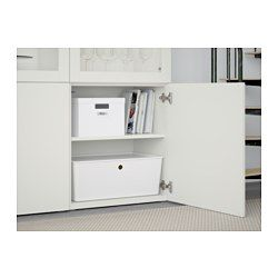 You can choose to use either the soft-closing or push-open function. The push-opener lets you open the doors with just a light push, while the soft-closing hinges makes sure they close silently and softly. Glass doors keep your items free from dust but still visible. Adjustable shelves, so you can customize your storage as needed.