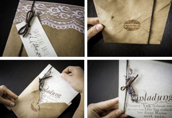 Hochzeitseinladung zum selber nachmachen von www.verruecktnachhochzeit.de
