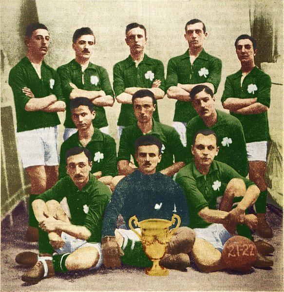 Panathinaikos of Greece team group in 1922.