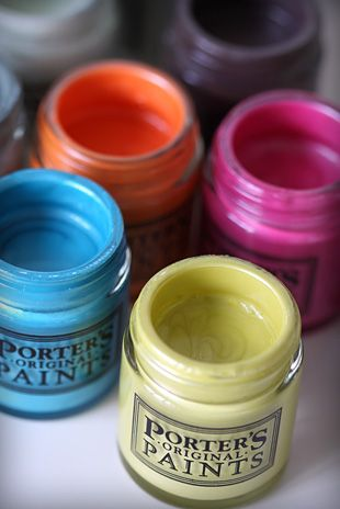 Porter's Paints sample pots