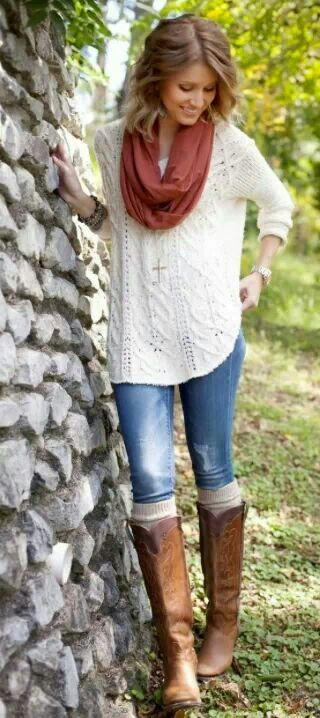 Love the colors and knit boot cuffs!