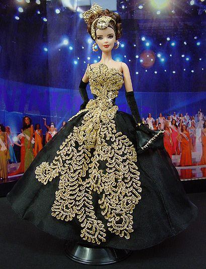 OOAK Barbie NiniMomo's Miss Pennsylvania 2007 - Most beautiful gown