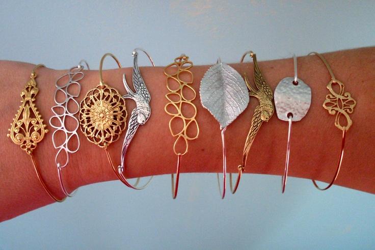 Armreife - Für Meine Brautjungfern - Armreif Set aus 4 - ein Designerstück von frostedwillow bei DaWanda