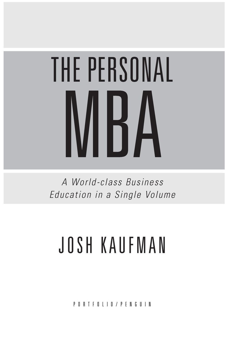 The Personal Mba By Josh Kaufman At The Time border=