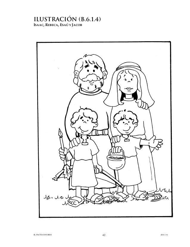 Image result for imagenes para colorear de isaac y rebeca para ninos ...