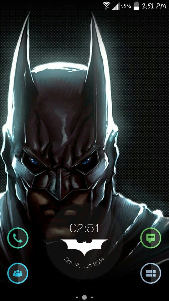 Bat-mode. Nova launcher, zooper widget, demicon icon pack.