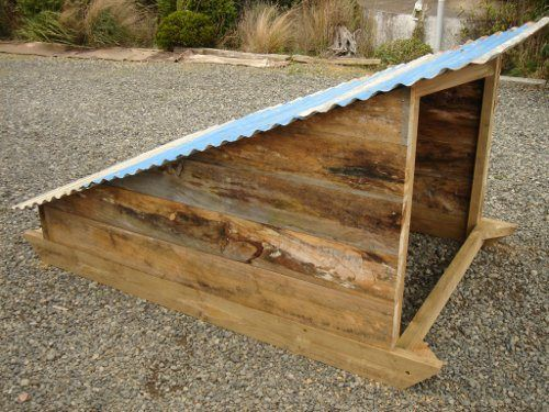 This is a pig house, but I think it would be a perfect chicken shelter to get them out of all this rain!