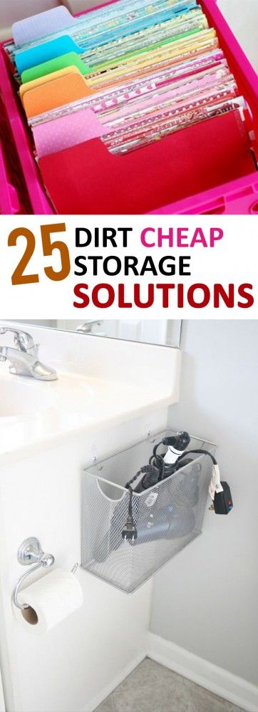 25 Dirt Cheap Storage Solutions