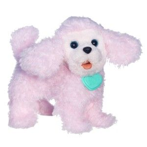 FurReal Friends: Walkin Puppies Pretty Poodle Toy Plush This is more economical, pink, and just perfect for a five year old.  Puppies Pretty Poodle pet will melt your heart with her cute walk and adorable puppy sounds. She'll make sweet puppy sounds as she happily walks across the floor. Her head is pose-able too. Poodle toy gives you her paw.  http://awsomegadgetsandtoysforgirlsandboys.com/furreal-friends-2/ FurReal Friends: Walkin Puppies Pretty Poodle Toy Plush