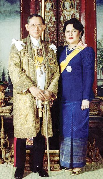 Thailand His Majesty King Bhumibol Adulyadej the Great and Her Majesty Queen…