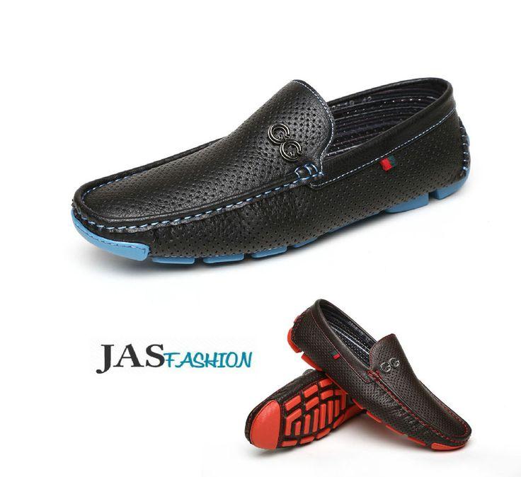 Mens Deck Shoes Designer Boat Loafers Slip On Casual Fashion Moccasins Size UK