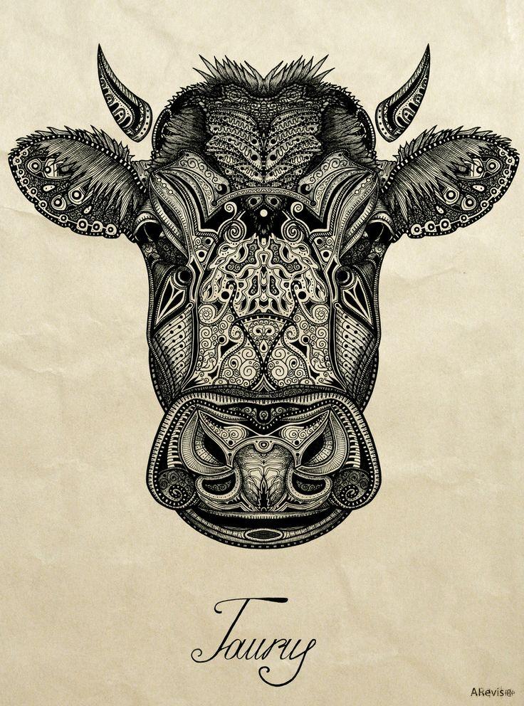 Taurus ♉ The Bull Taureau Tattoo Inspiration Cow