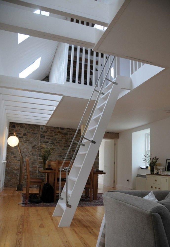 Ladder to attic rather than staircase.