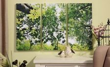 New 3 PC GREEN TREES Forest Canvas WALL PRINTS Sofa Art Nature Pictures 36x24