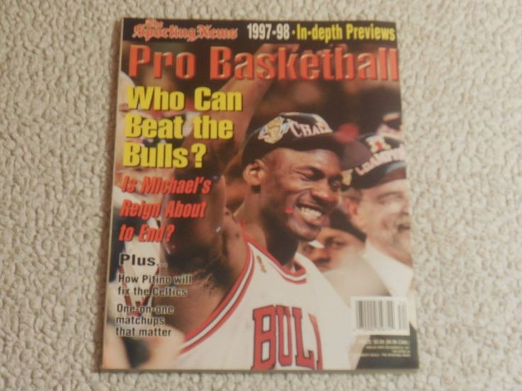 1997-98 The Sporting News Pro Basketball Magazine: Michael Jordan Chicago Bulls