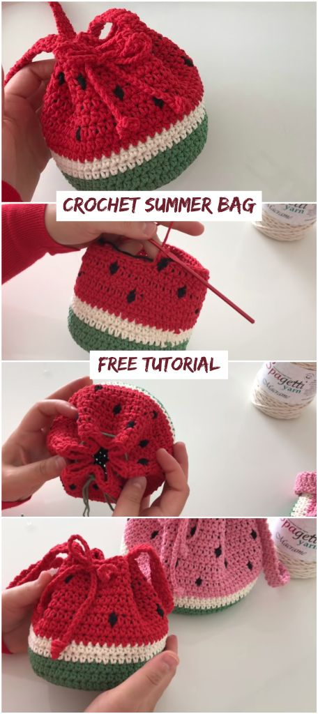 Crochet Summer Bag – Watermelon Bag – Crochetopedi…