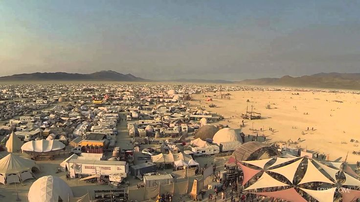 Drone's-Eye View of Burning Man 2013