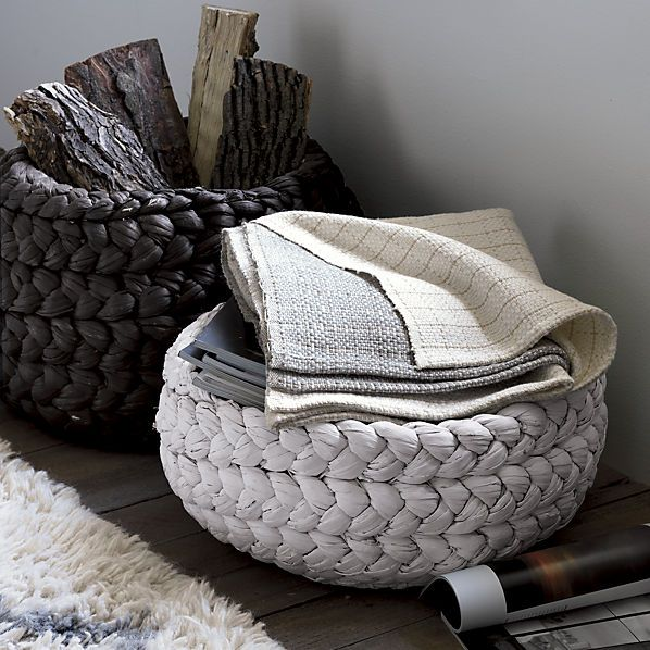 love these woven style baskets
