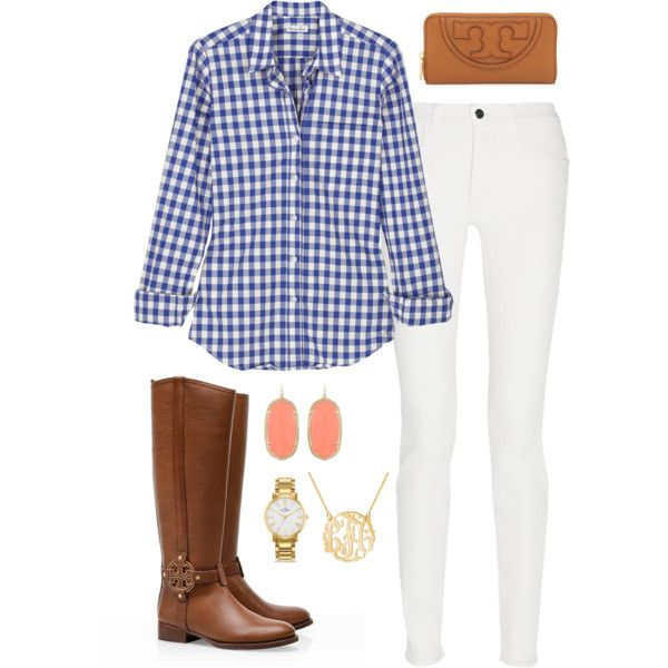 Fall preppy outfit by perfectlypreppy15 on Polyvore featuring Steven Alan, Proenza Schouler, Tory Burch, Kendra Scott and Kate Spade
