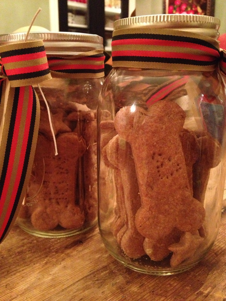 homemade dog treats packaged for a gift