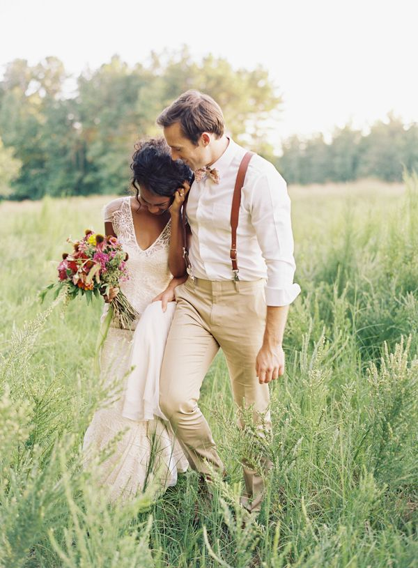 lace dress and leather suspenders | Ali Harper #wedding