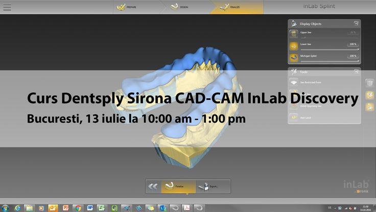 Curs organizat de Dentsply Sirona despre sistemul CAD-CAM InLab la Bucuresti in data de 13 iulie 2017. Mai multe detalii pe www.medicul.dentist