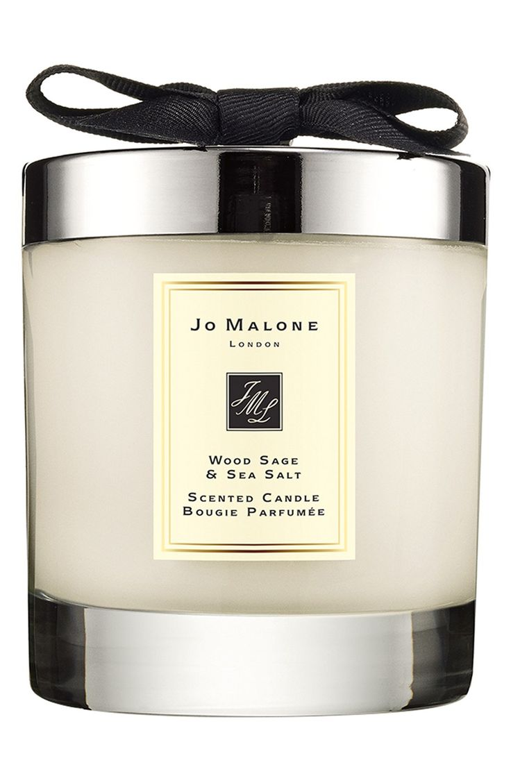 Love! Jo Malone wood sage & sea salt scented candle. Want the perfume too