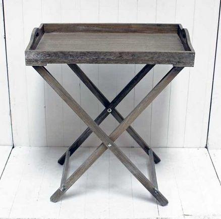 Grey Wood Tray Table - £55.00 - Hicks and Hicks