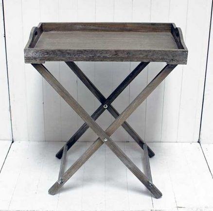 Grey Wood Tray Table - £55.00 - Hicks and Hicks