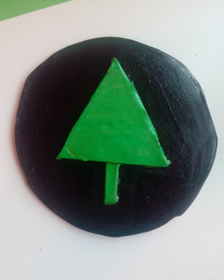 Hand made clay wall hanging / ornament by Nokireki on Etsy