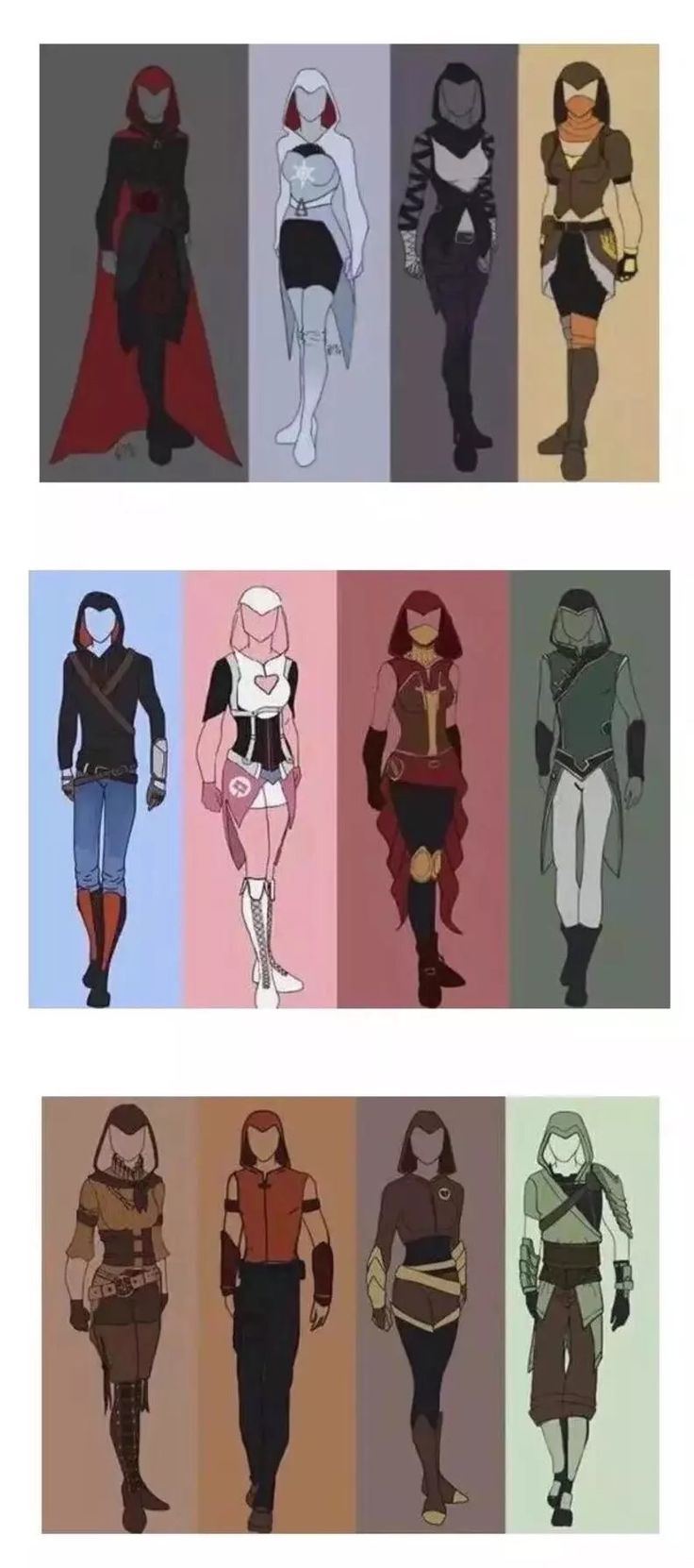 RWBY, JNPR and CFVY, Assassin's Creed style