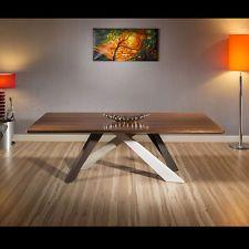 Large 12 Seater Walnut Top/Steel Leg Boardroom/Dining Table 240x110cm
