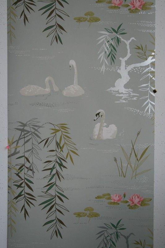 Osborne & Little - Nina Campbell - Swan Lake Wallpaper - 10m roll - Wallpaper & Decor
