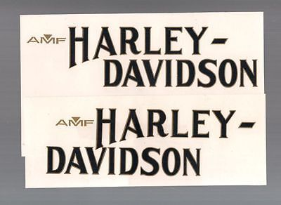 AMF Harley Sportster 61243-78 Anniversary 75th GAS TANK DECAL Black w/Gold Pair