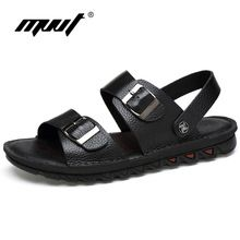 US $30.00 MVVT New Large Size Men Sandals Genuine Leather Sandals Two Style Men Slippers Cool Summer Shoes Classics Flats Breathable Shoes. Aliexpress product
