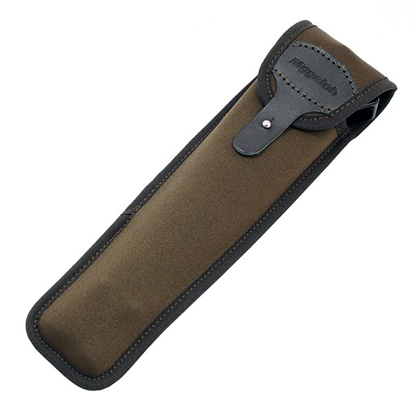 Our belt pouch for the Javelin or Blaser bipod is perfect for keeping your bipod handy. It's made by Niggeloh of Germany to the same high standard as our slings. It's made from neoprene and leather with a flap to keep it safe. The pouch is big enough for either the standard or long bipod and weighs only 38 grams.