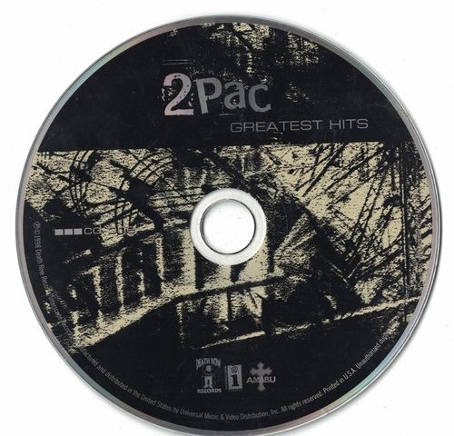 2PAC Greatest Hits 1998 CD Professionally Cleaned