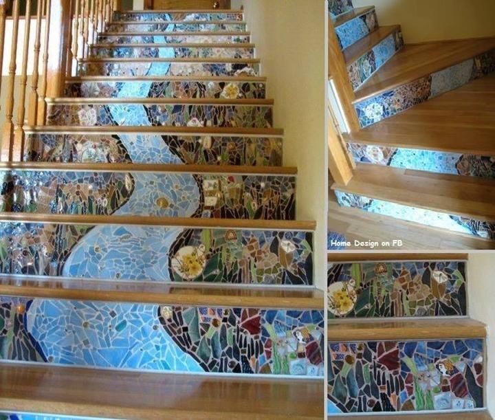 Gorgeous Mosaic Staircase