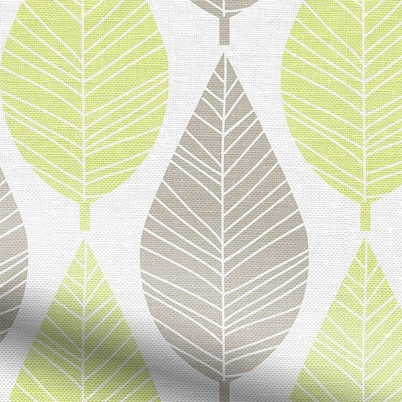 Winter Leaf Spring Green Roman Blind%20from%20Blinds%202go